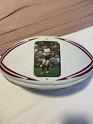 "AU50 • Buy Manly Sea Eagles Steve ""Beaver"" Menzies Signed Tribute Footy Ball"