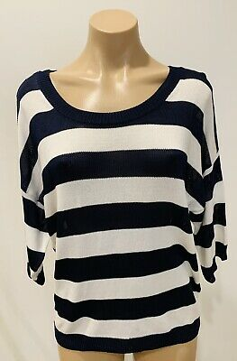 AU19.95 • Buy Witchery Navy &  White Knit Size S In Excellent Condition