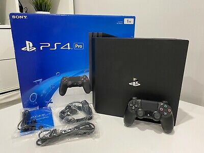 AU399 • Buy Sony PlayStation 4 PS4 Pro 1TB - Box & All Accessories