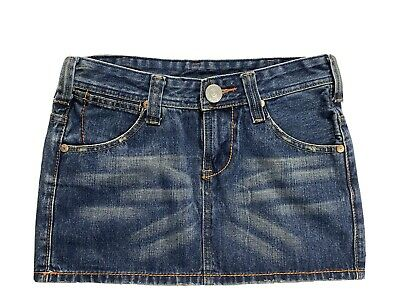 True Religion Denim Jean Skirt Womens Size 27 With Detailed Buttons • 11.58£