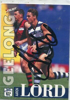 AU5 • Buy AFL Select 1996 #266 Geelong Aaron Lord Autographed Card