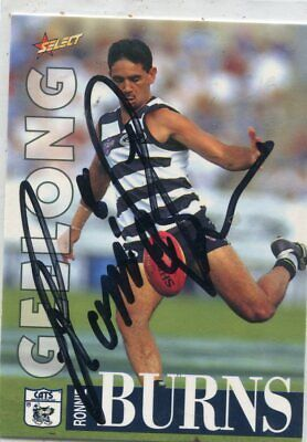 AU5 • Buy AFL Select 1996 #268 Geelong Ronnie Burns Autographed Card