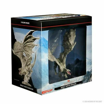 AU100 • Buy D&D Icons Of The Realms Miniatures White Adult Dragon Premium Figure Brand New