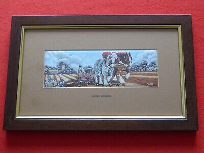 Cash's Silk Picture Shire Horses (No 2) Framed And Glazed • 12£