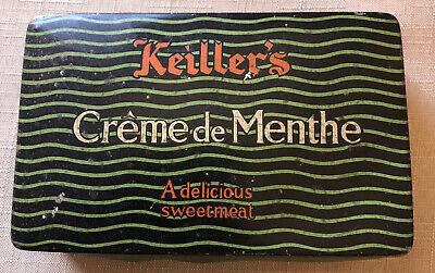James Keillers And Son Creme De Menthe Preowned Empty Vintage Sweet Tin  • 10£