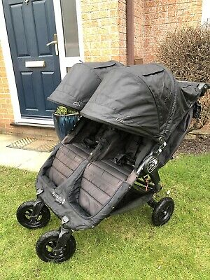 Baby Jogger City Mini GT Double Pram RRP £500+  Black With Raincover • 165£