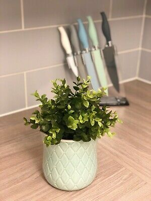 2 X IKEA Indoor Plant Pot Light Blue Stoneware  - NEW Flower Pot Decor - • 4.99£
