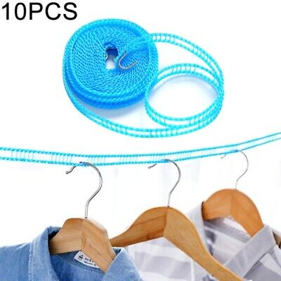 Travel Clothesline Camping Ropes Kit Windproof For Outdoor To Laundry Drying Use • 5.57£