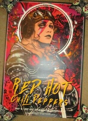 $59.99 • Buy RED HOT CHILI PEPPERS Concert Gig Poster LOUISVILLE 5-16-17 2017 Kaun VARIANT