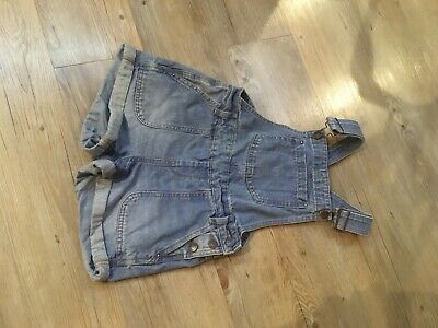 New Look girls denim Dungarees Shorts Age 11-12 Excellent Condition • 4£