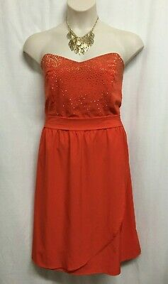 AU59.95 • Buy City Chic Dress Plus Size L 20/22-24 Strapless Midi Orange Cocktail Evening NEW