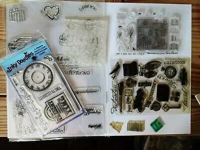 Assortment  Of Clear Stamp Sets, Travel, New Home, Time, Miscellaneous • 4.50£