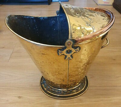 Vintage Collectable Metalware Large Brass Coloured Coal Scuttle Fire Bucket  • 39.99£