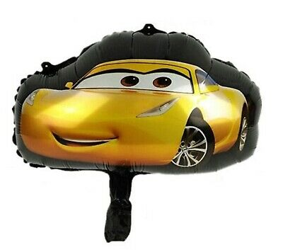 24 X Cars Lightning McQueen Large Cupcake Toppers Picks 200gsm + Free Balloon • 9.99£