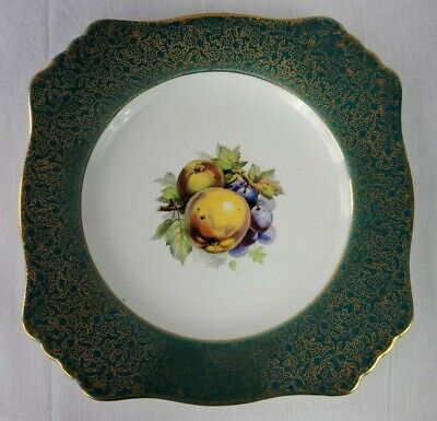 $ CDN89.97 • Buy Vintage Royal Winton Grimwades Green And 22k Gold Details Cake Plate Fruits