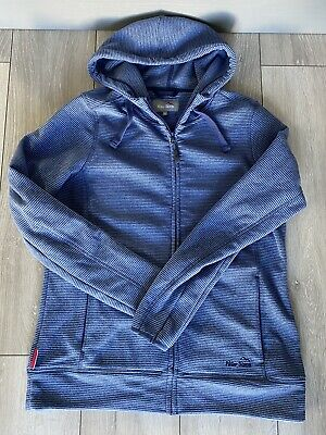 PETER STORM Women's Hooded Fleece Blue Striped - SIZE UK 16 Full Zip Jacket • 2.50£