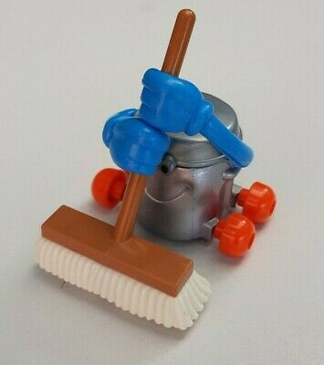 Vintage Tomy Wind Up Toy Dusty Bin With Sweeping Broom - Japan 1970s • 15£