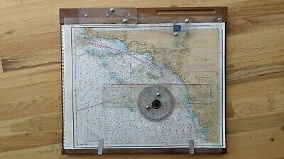 Vintage BBA Brand Ship's Captain's Wooden Portable Maps & Charts Plotter Table! • 9.90£