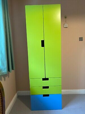 IKEA Stuva Wardrobe Green And Blue.  2 Single Drawers And One Double Drawer.   • 20£