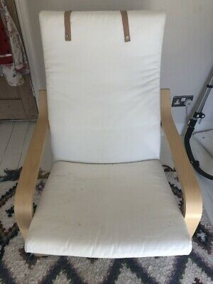 Ikea Poang Chair Cream / Birch Wood Nursery Lazy  • 4.20£