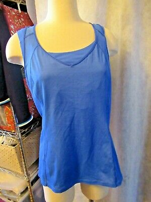 $ CDN24.25 • Buy LULULEMON SZ S 12  Royal Blue V Striped Bra  Fitness Workout  Running Very Nice