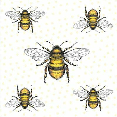 £4.95 • Buy 20 Paper Party Napkins Bees Honey Bees Pack Of 20 3 Ply Serviettes Insects