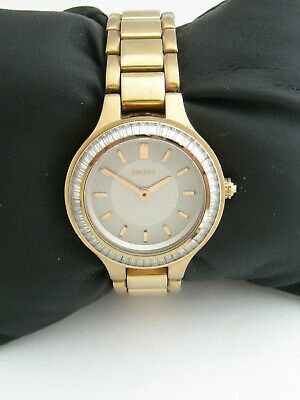 Dkny Women's Chambers Watch Ny2393 Gold Stainless Steel Crystals Genuine • 19.99£