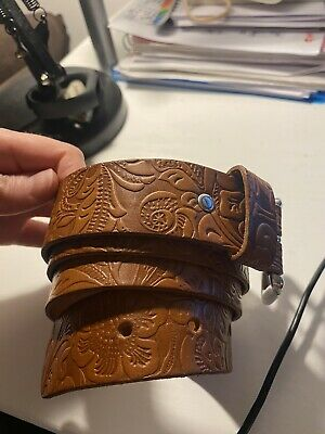 £25 • Buy BAYONNE Cowboy Style Leather Belt Made In Germany Size 90