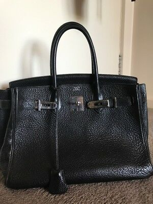 AU15000 • Buy Hermes Birkin Black Taurillon Clemence 30cm Bag