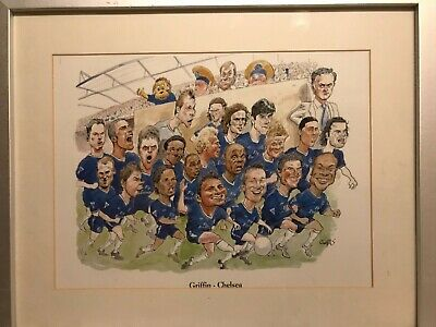 Chelsea Champions 2004/2005 Team, Caricature Picture In Frame (Art By Griffin) • 30£