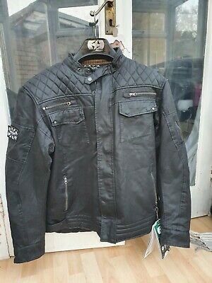 Oxford Hardy Wax Bikers Jacket With Elbow And Shoulders Protection Size 4xl • 35£