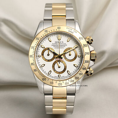 $ CDN24563.78 • Buy Rolex Daytona 116523 Stainless Steel & 18k Yellow Gold White Dial