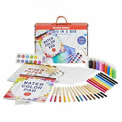 Kid Made Modern Kids Arts And Crafts Studio In A Box Set - Painting Sketching... • 43.89£