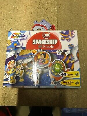 Spaceship 3D Outer Space 45 Piece Jigsaw Puzzle • 3.99£