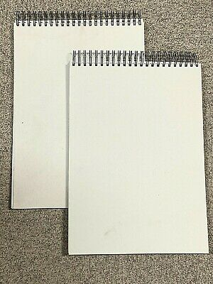Job Lot Of 2 A3 Drawing & Sketching Spiral Bound Art Pads (40 Sheets - 80 Pages) • 16£
