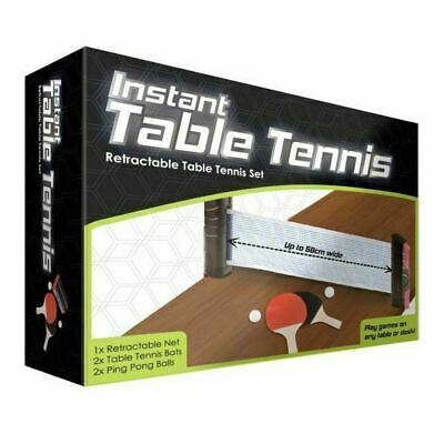 Instant Table Tennis - Includes Bats, Net And Balls, Fun, Ping Pong, Portable • 15£