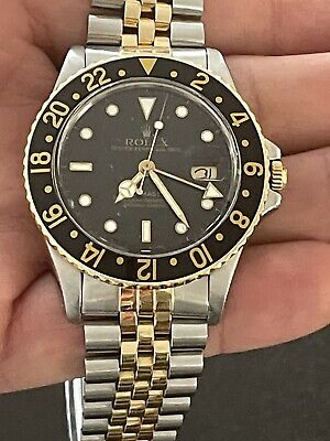 $ CDN14495 • Buy Rolex GMT-Master 16753 Vintage Mens Automatic Watch Black Dial Two Tone 40mm
