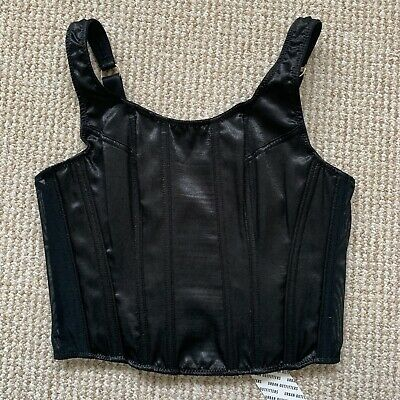 AU39.67 • Buy Urban Outfitters Black Margot Scoop Corset Top Size Small Bnwt