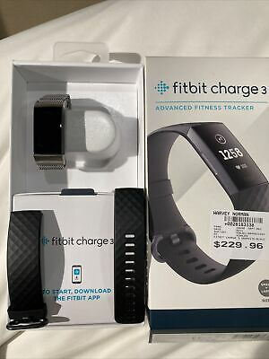 AU120 • Buy Fitbit Charge 3 Advanced Fitness Tracker, Small - Black/Graphite