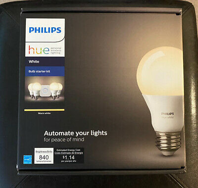 AU58.71 • Buy Philips Hue Warm White Smart Bulb Starter Kit - 4 Bulbs And 1 Hub - Item# 472001