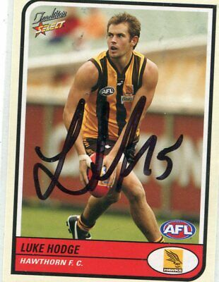 AU5 • Buy AFL Select 2005 #76 Hawthorn Luke Hodge Autographed Card