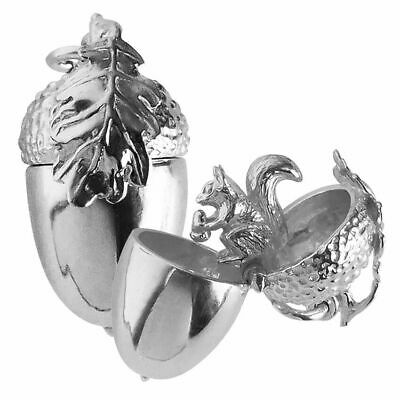 £40 • Buy Acorn Charm Sterling Silver Opens To Squirrel .925 Inside Opening Oak Tree