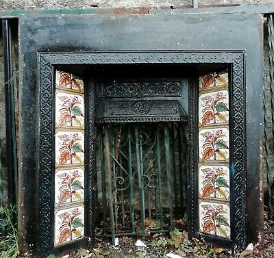 £200 • Buy  Very Old Cast Iron And Tile Fireplace With Grey Slate Surround