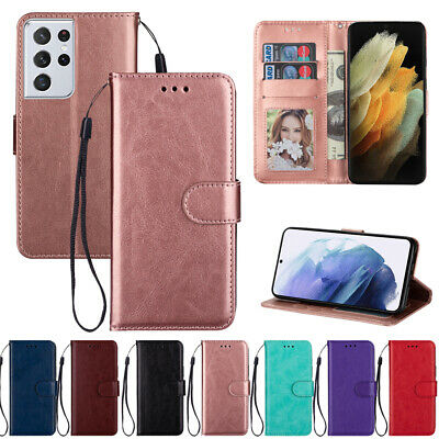 $ CDN6.32 • Buy For Samsung Galaxy S21 Ultra S20 FE Magnetic Flip Cover Card Leather Wallet Case