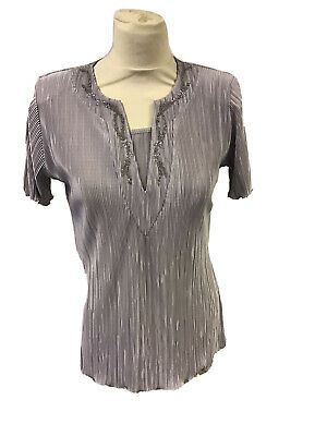 £10 • Buy Ladies Forever By Michael Gold Medium Silver Matalic Silver Top