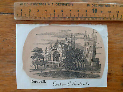£12 • Buy Print Engraving Exeter Cathedral