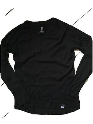 Womens Black Merino Base Layer 12/14 • 6.30£