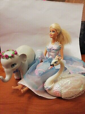 MATTEL BARBIE SWAN LAKE DOLL. 2010 DOLL. PRINCESS ODETTE WITH Elephant And Swan  • 12.99£