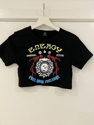AU12.61 • Buy Urban Outfitters Energy Cropped Baby Tee Size M