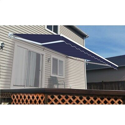 $ CDN381.31 • Buy ALEKO Refurbished 13 X 10 Ft Retractable Home Patio Canopy Awning  Blue